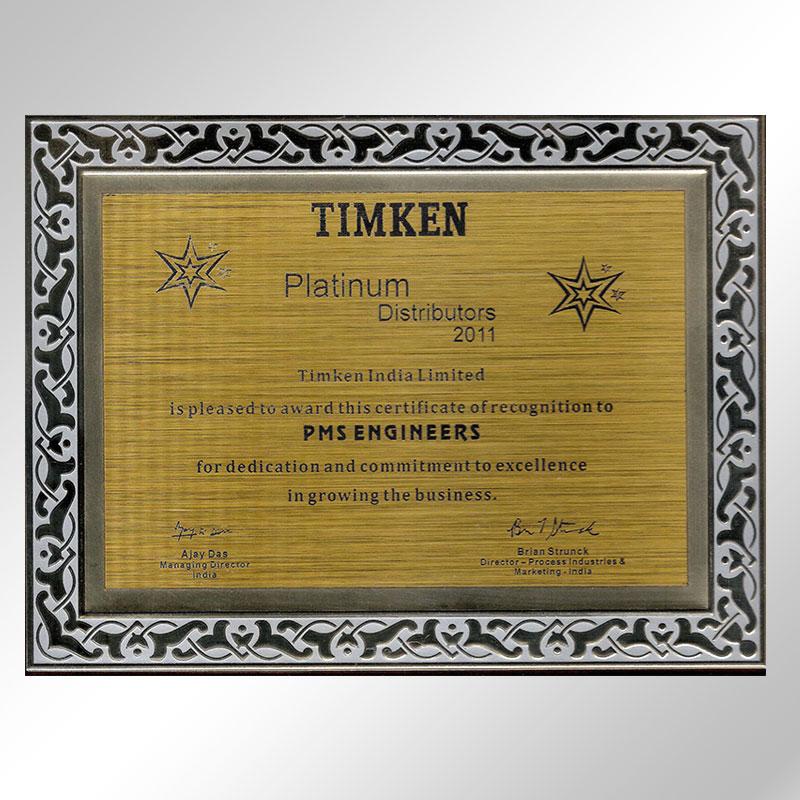 timken platinum distributors 2011